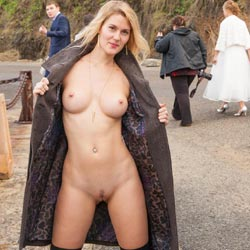 Naked Blonde At The Golden Gate Bridge - Big Tits, Blonde Hair, Exposed In Public, Firm Tits, Naked Outdoors, Nude In Public, Perfect Tits, Showing Tits, Trimmed Pussy, Sexy Body, Sexy Boobs, Sexy Figure, Sexy Girl, Sexy Legs , Naked, Nude In Public, Horny, Blonde Girl, Coat, Trimmed Pussy, Big Tits