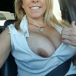 First NIP Contribution - Big Tits, Public Exhibitionist, Public Place