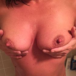 Karen Takes A Shower - Big Tits, Close-Ups, Bush Or Hairy