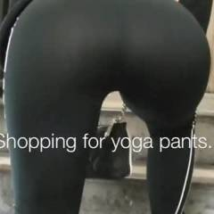 Nikki Brazil See Thru Yoga Pants, Oiled Up Booty,  BUSTED In The Parking Lot!  Oops! - Exposed In Public, Flashing, Nude In Public, Sexy Ass, Sexy Lingerie, Wife/Wives