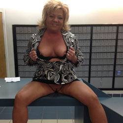 Post Office Visit - Big Tits, High Heels Amateurs, Public Exhibitionist, Public Place