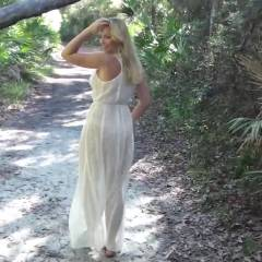 Warm Breeze, Wet Dreams - Big Tits, Blonde, Nature, Shaved