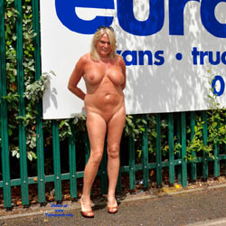 SexySue - Big Tits, Blonde, Public Exhibitionist, Public Place, Shaved