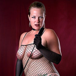 Whip And Fishnets - Big Tits, Lingerie