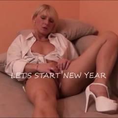 New Year - Blonde, Blowjob, Girl On Guy, Masturbation, Penetration Or Hardcore, Toys