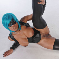 Blue Dominatrix - Big Tits, Ebony