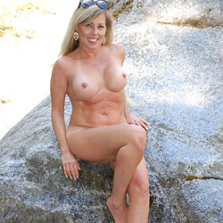 By The River - Big Tits, MILF, Nature