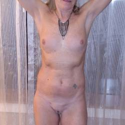 Very small tits of my wife - MILF 1954