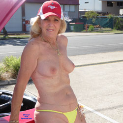 Mustang Marg Part 2 - Big Tits, Bikini Voyeur, Public Exhibitionist, Public Place