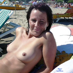 Topless At The Beach - Brunette