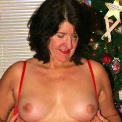 Xmas Fun  - Big Tits, Brunette, Lingerie
