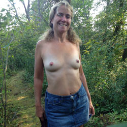 Tits Out In Public Trail - Nature, Topless Wives, Wife/Wives