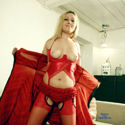Sexy Blonde Girl In Red Lingerie - Big Tits, Blonde Hair, Perfect Tits, Showing Tits, Hot Girl, Sexy Body, Sexy Boobs, Sexy Girl, Sexy Legs, Sexy Lingerie