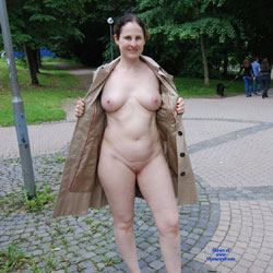 Sabyne Public Exhib - Big Tits, Brunette, Flashing, Public Exhibitionist, Public Place