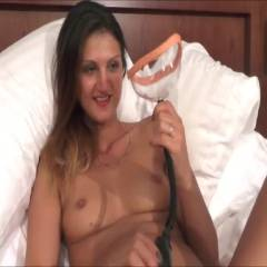 Pussy Pumping - Big Tits, Brunette, Masturbation, Shaved, Toys