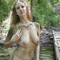 Muddy On The Trail - Big Tits, Nature
