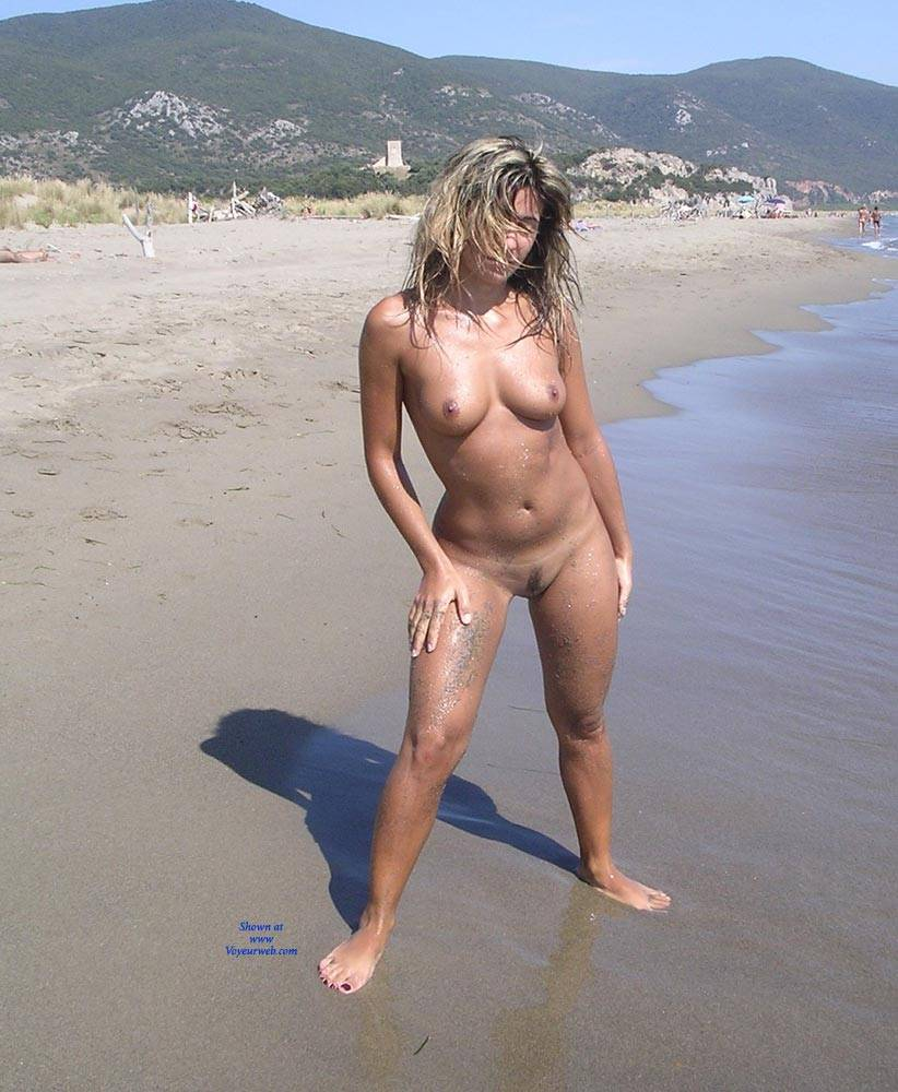 the naked beach on