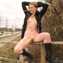 Bri At The Car Wash - Public Exhibitionist, Public Place, Shaved