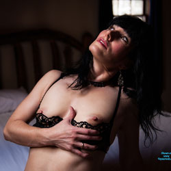Sexy Brunette On Bed Showing Nipples - Bed, Bra, Brunette Hair, Erect Nipples, Flashing Tits, Flashing, Hard Nipple, Nipples, Small Tits, Strip, Sexy Girl, Sexy Lingerie