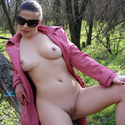 A Walk - Big Tits, Brunette Hair, Nude In Public, Shaved