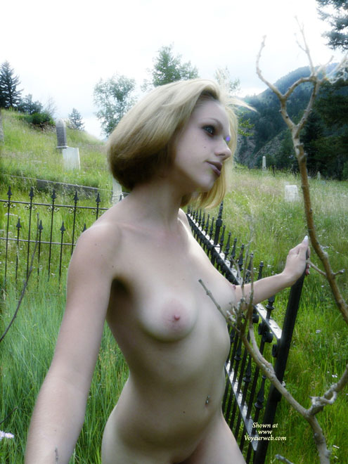 Pic #1 - Hot Goth In Graveyard - Blonde Hair, Exhibitionist, Large Aerolas, Navel Piercing, Naked Girl, Nude Amateur , Short Haired Blonde In Cemetary, Navel Piercing, White Girl With Pierced Navel, Graveyard Beauty, Old Cemetery Nude, Sexy Slim Body, Puffy Tits With Large Nipples, Blonde Nymph Waiting, Outdoor Exhibitionist, Short Blonde Hair