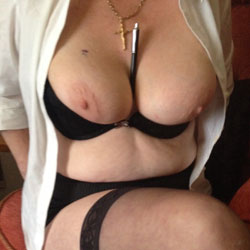 My Wife Flashing Her Tits  - Wife/Wives, Lingerie, Big Tits, Flashing Tits