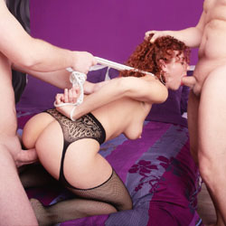 Lena First Double - Big Tits, Group, Lingerie, Penetration Or Hardcore, Redhead
