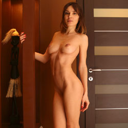 Seducing Naked Petite Woman - Big Tits, Full Nude, Hanging Tits, Indoors, Long Legs, Nipples, Perfect Tits, Shaved Pussy, Short Hair, Sexy Body, Sexy Boobs, Sexy Feet, Sexy Figure, Sexy Girl