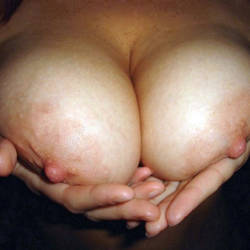 Large tits of my wife - HotWifey