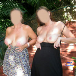 Two MILFS In The Park - Big Tits