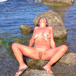 My Wife And Sea - Big Tits, Nature, Shaved, Wife/Wives