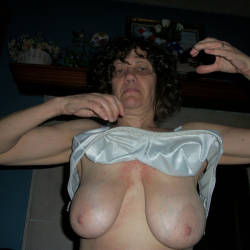 Medium tits of my wife - Kathy