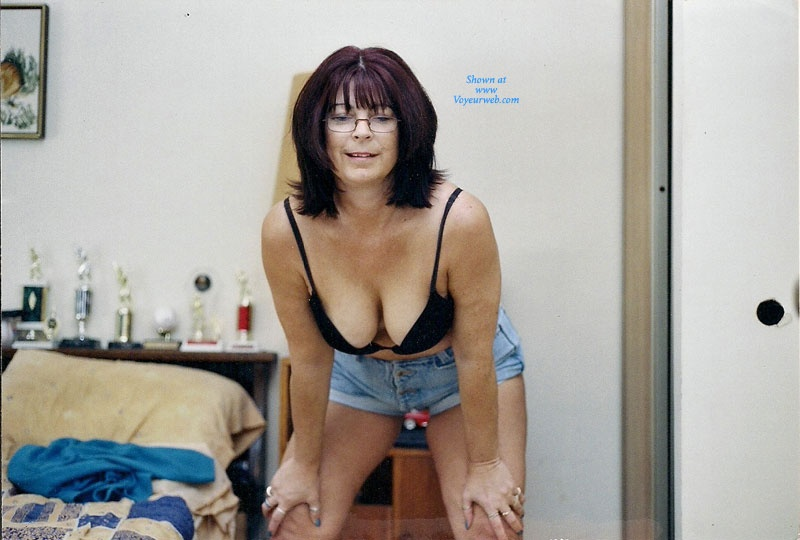 Pic #2 - Nervous Mom Stripping - Big Tits, Striptease, Wife/Wives