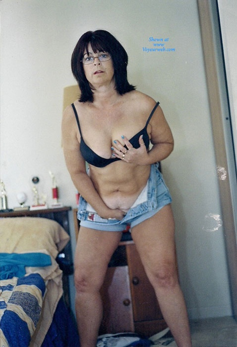 Pic #4 - Nervous Mom Stripping - Big Tits, Striptease, Wife/Wives