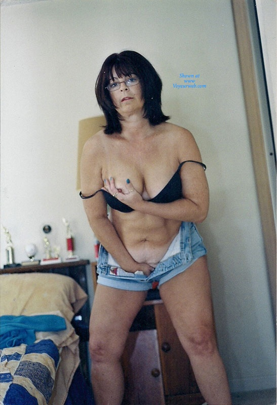 Pic #5 - Nervous Mom Stripping - Big Tits, Striptease, Wife/Wives