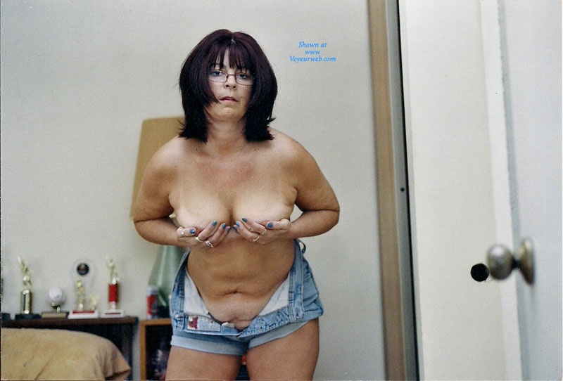 Pic #6 - Nervous Mom Stripping - Big Tits, Striptease, Wife/Wives