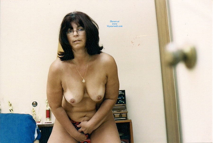 Pic #7 - Nervous Mom Stripping - Big Tits, Striptease, Wife/Wives