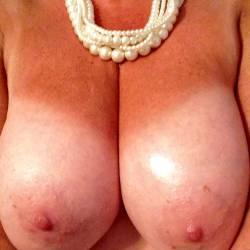 My very large tits - myself