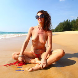 Topless Brunette At The Beach - Bikini, Brunette Hair, Naked Outdoors, Nipples, Nude Beach, Nude In Nature, Nude In Public, Showing Tits, Topless, Beach Tits, Beach Voyeur, Hot Girl, Sexy Body, Sexy Figure, Sexy Girl, Sexy Legs