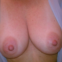 Medium tits of my girlfriend - nipples