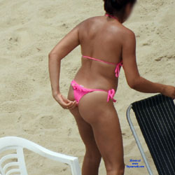 Pink Bikini From Recife City, Brazil - Beach Voyeur, Bikini Voyeur