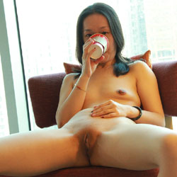 Spread At Hotel - Brunette, Shaved