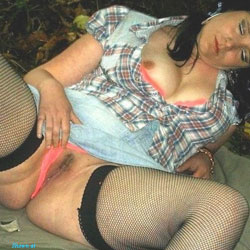 Charlotte In The Woods Cowgirl Slut PT 2 - Brunette, High Heels Amateurs, Lingerie