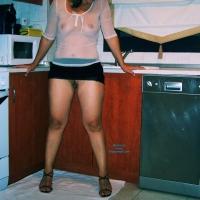 Upskirt! - Brunette, Big Ass, Dressed