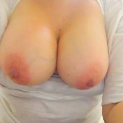 Very large tits of my wife - MILF wife