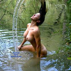 Wet Fun At The Pond - Big Tits, Nature