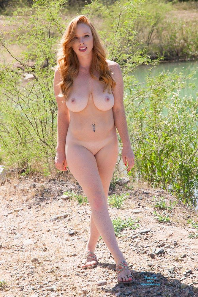 naughty redhead naked outdoor - march, 2016 - voyeur web hall of fame