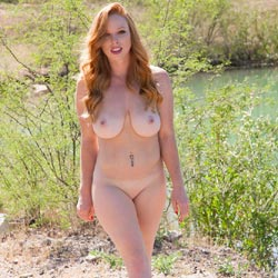 Naughty Redhead 1st Nudes - Big Tits, Nature, Redhead, Shaved