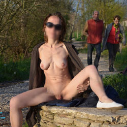 My Spring Nude Walking - Big Tits, Firm Ass, Flashing, Public Exhibitionist, Shaved