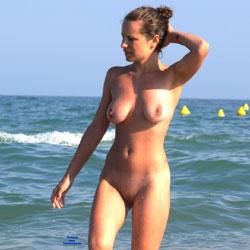 Fantastic Beach Scene - Beach Voyeur, Big Tits, Brunette